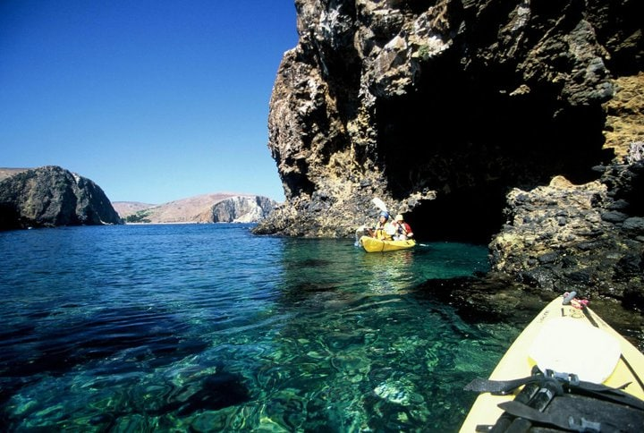 Kayaking Channel Islands