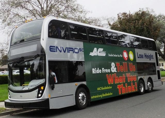 ac transit double decker bus