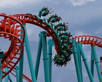 Mind Eraser Roller Coast at Six Flags