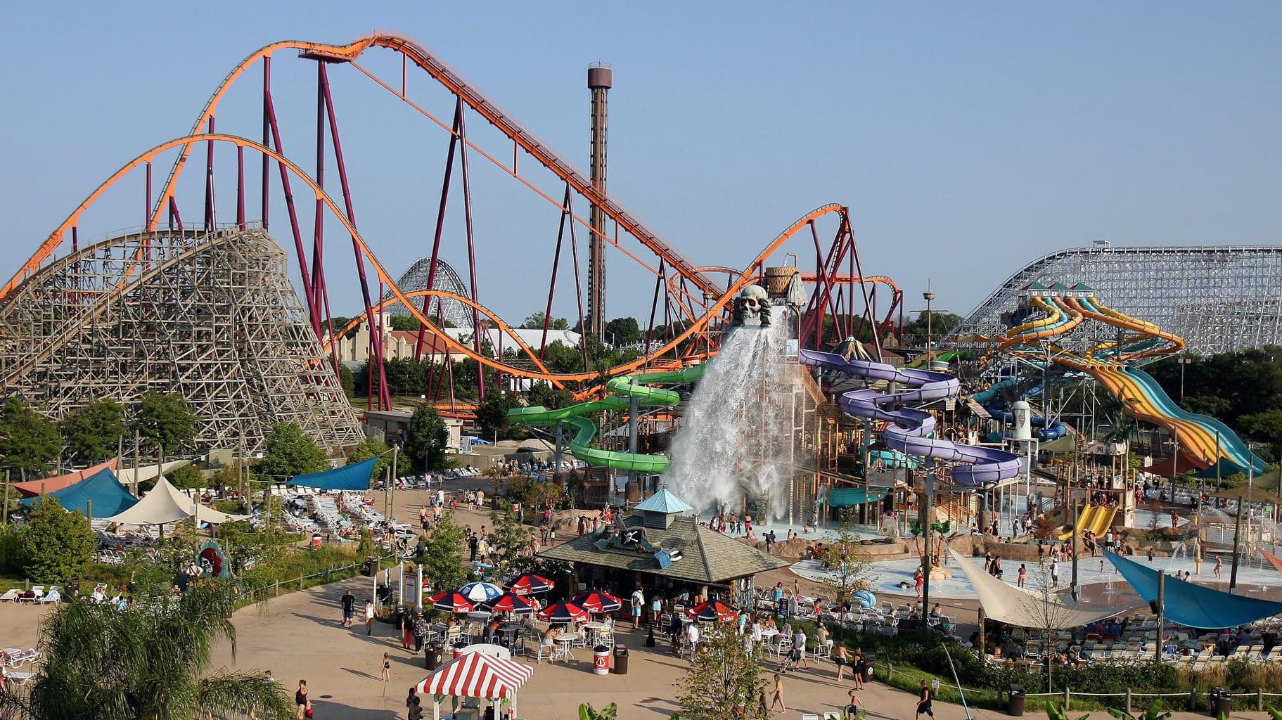 Six Flags Amusement Park in Massachusetts