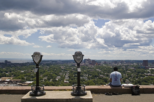 view of new haven from east rock park by citizenswaine