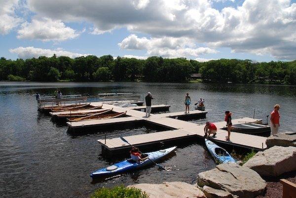 canoeing on skytop lake