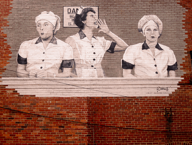 Mural of I love Lucy