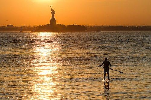 Paddleboarding NYC