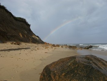 Rainbow at Clay Head Beach