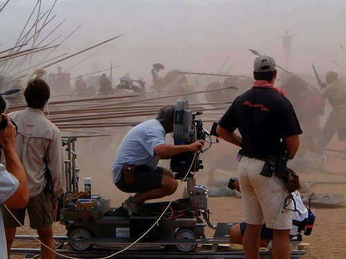 Oliver Stone on the set of Alexander