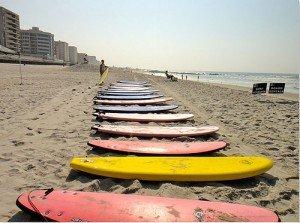 Surfing Long Beach