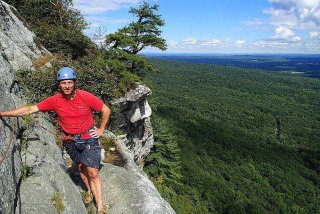 rock climbing in the gunks