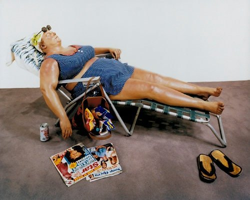This is a perfect day for a Sunbather. Artist: Duane Hanson (American, 1928-1987)