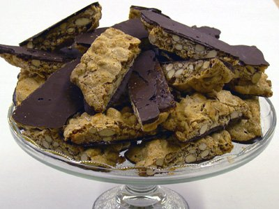 Scialo Bakery's Chocolate Dipped Almond Biscotti