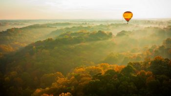 air balloon ride in fall