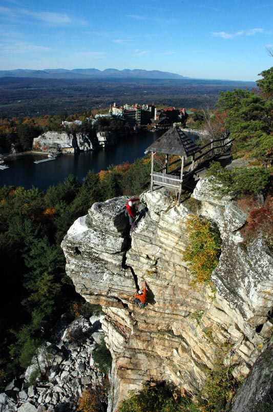 Mohonk Mountain House rock climbing