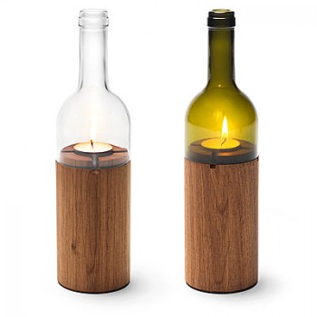 For the Housewarming Party | Wine Bottle Tea Light Holder | <a href=