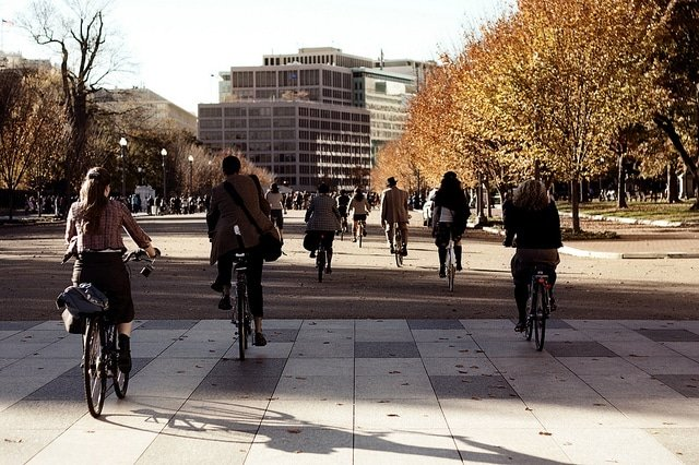 biking in adams morgan