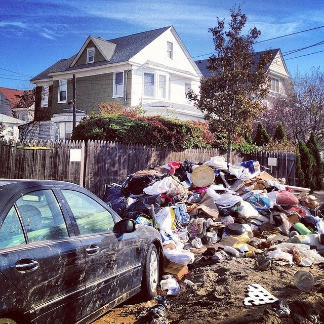 A typical post-Sandy street view in the Rockaways
