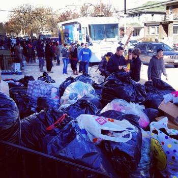 Donation pile at St. Francis de Sales