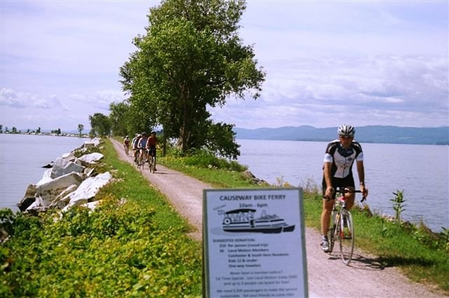 Cycling around Lake Champlain