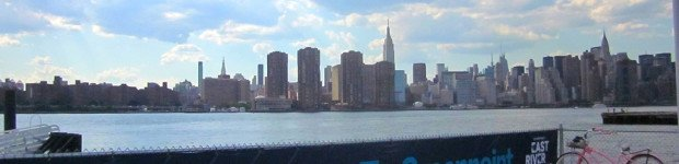 Biking in Greenpoint via Ferry