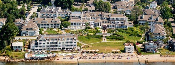 water's edge resort aerial