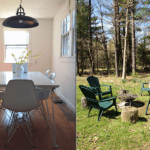 Cottage in Woodstock, from $120/night. Book it for the fire pit and grill, cool minimalist design, and the location—you're in the wilderness yet within walking distance to town. Take Adirondack Trailways, which drops you off at the village green.