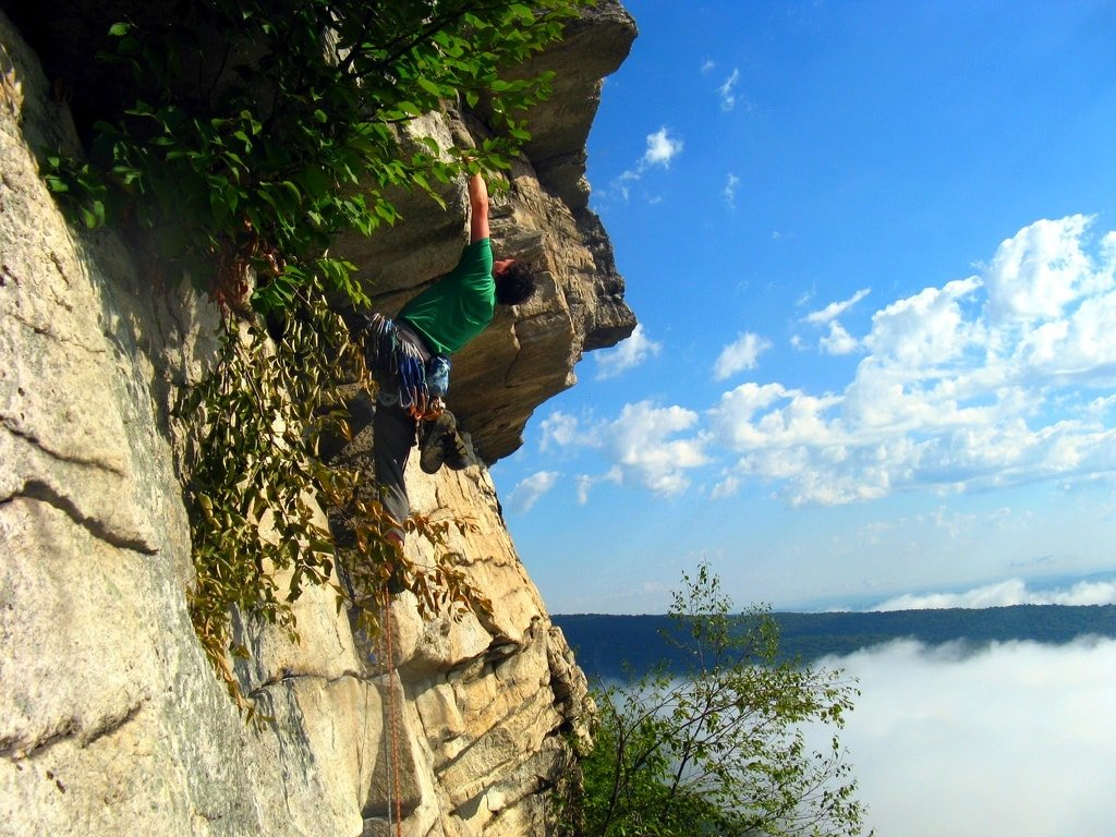 Rock climbing the Gunks