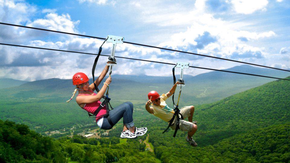 Ziplining at Hunter Mountain