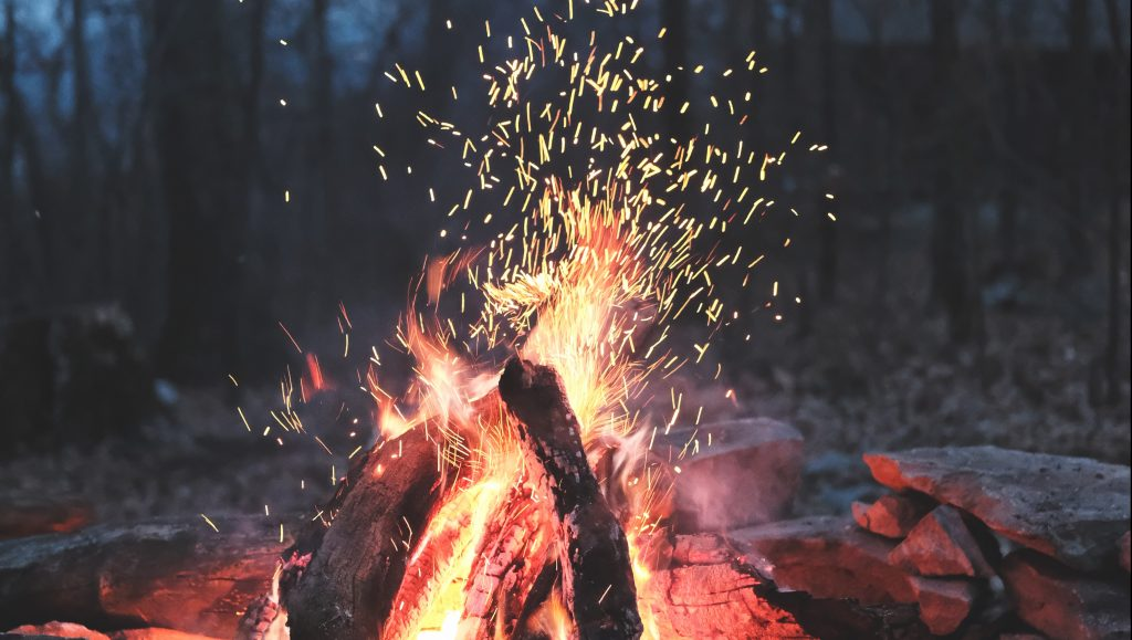 Fire at Campsite