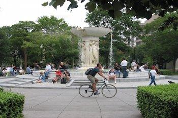 Biking in Dupont Circle