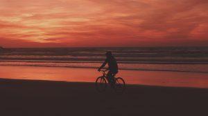 Biking in Sunset