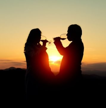 Wine in the Sunset