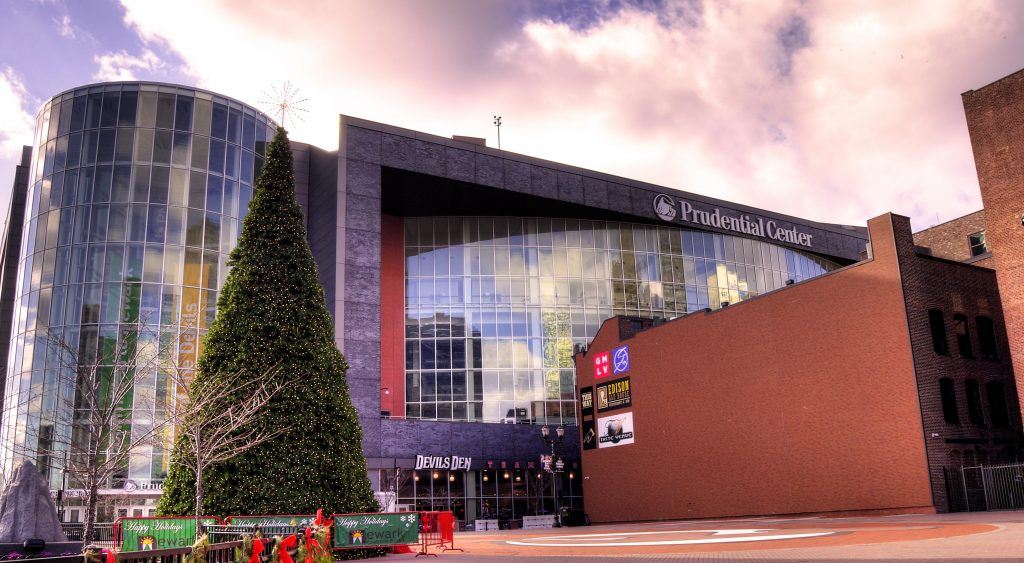 Exterior of the Prudential Center Arena