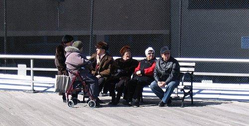 Chatty Russian Women on the boardwalk