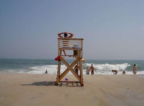 Robert Moses beach lifeguard