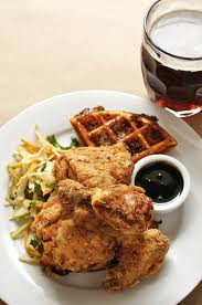 buttermilk's famous waffles & chicken dish