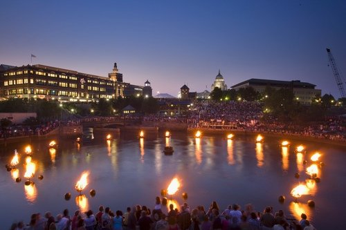 WaterFire in Waterplace Park