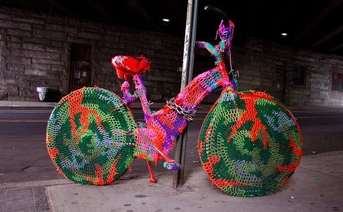 yarn bombing bike