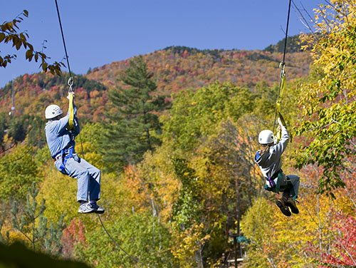 Ziplining through New Hampshire