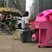 Cyclists stop to admire a Pop-Up Piano in Manhattan. thumbnail