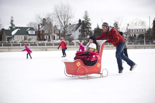 sledding in canada