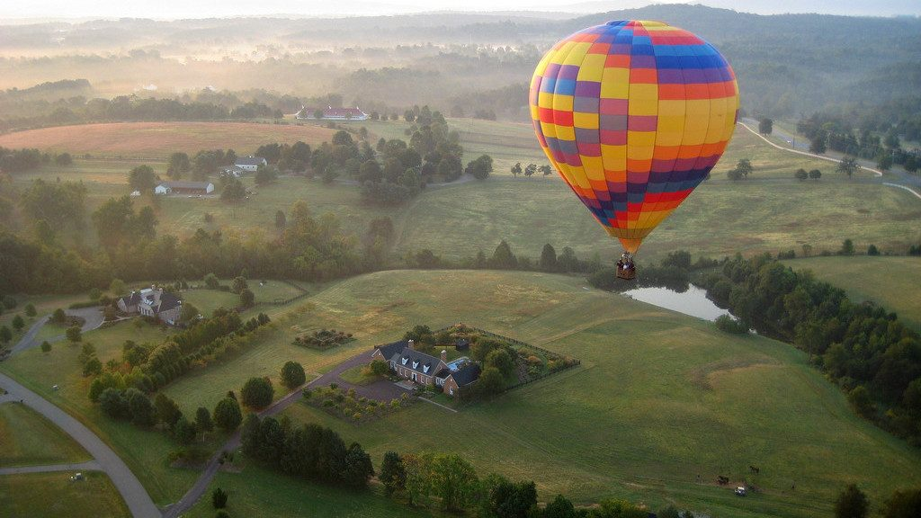 hot air balloon charlottesville