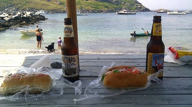 beer and lobster
