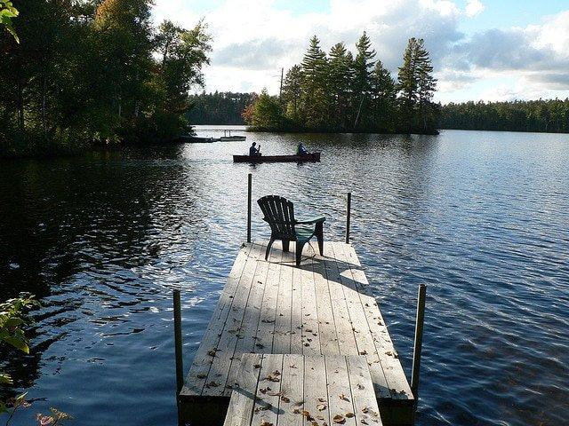 canoeing lake placid