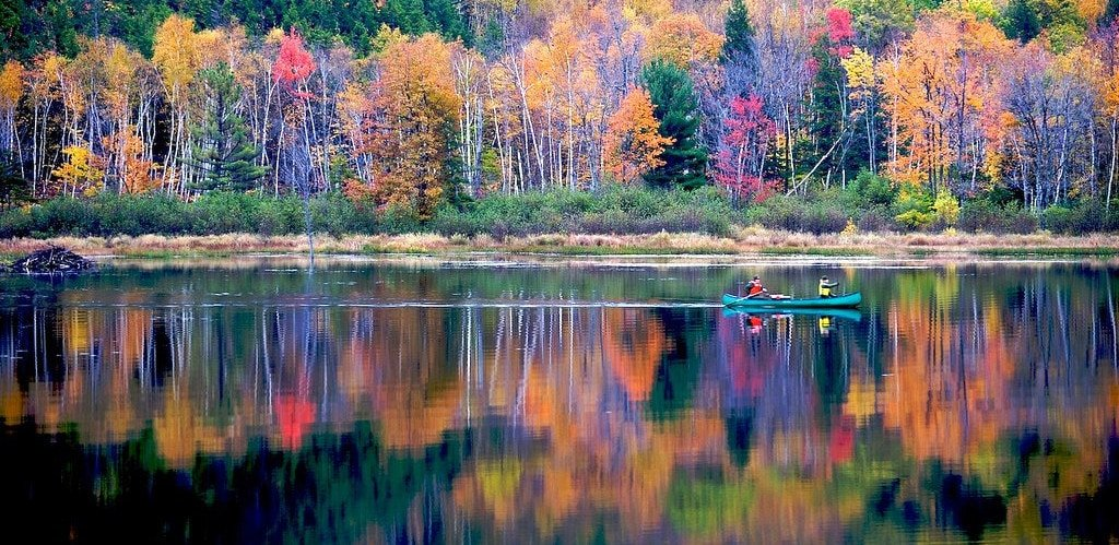 canoe in the fall
