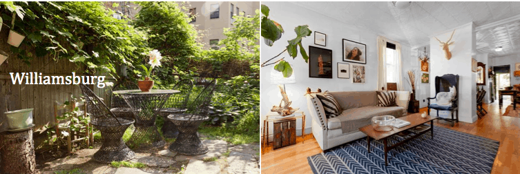 onefinestay listing in Williamsburg