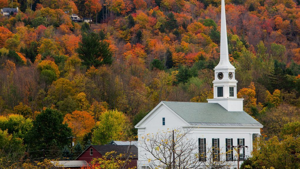 Fall Foliage in Stowe Vermont