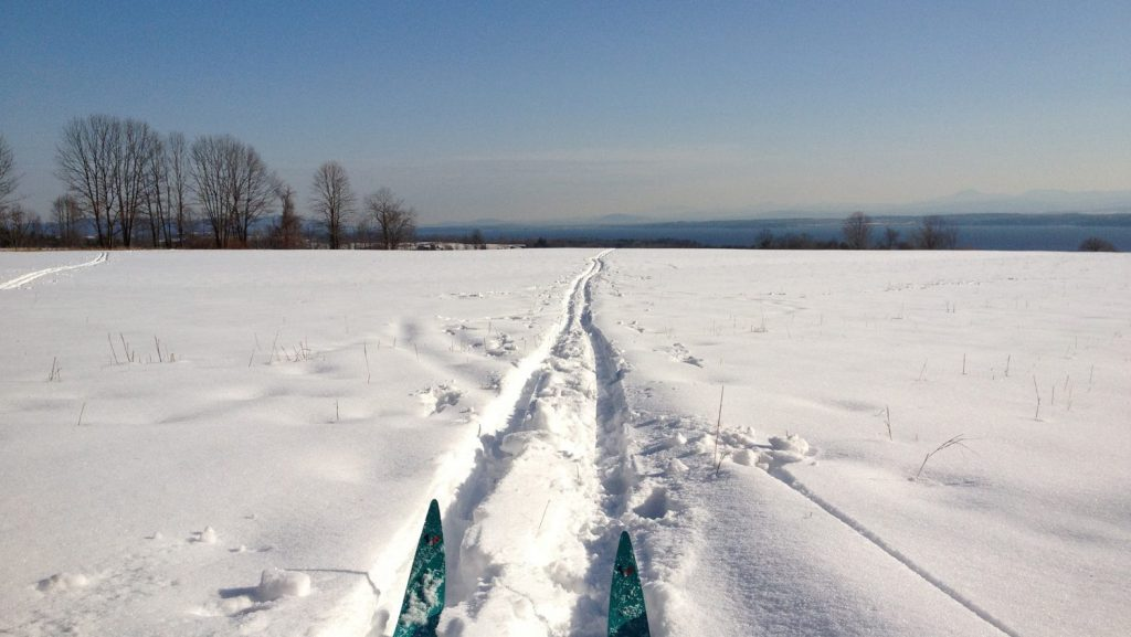 XC skiing at lake placid