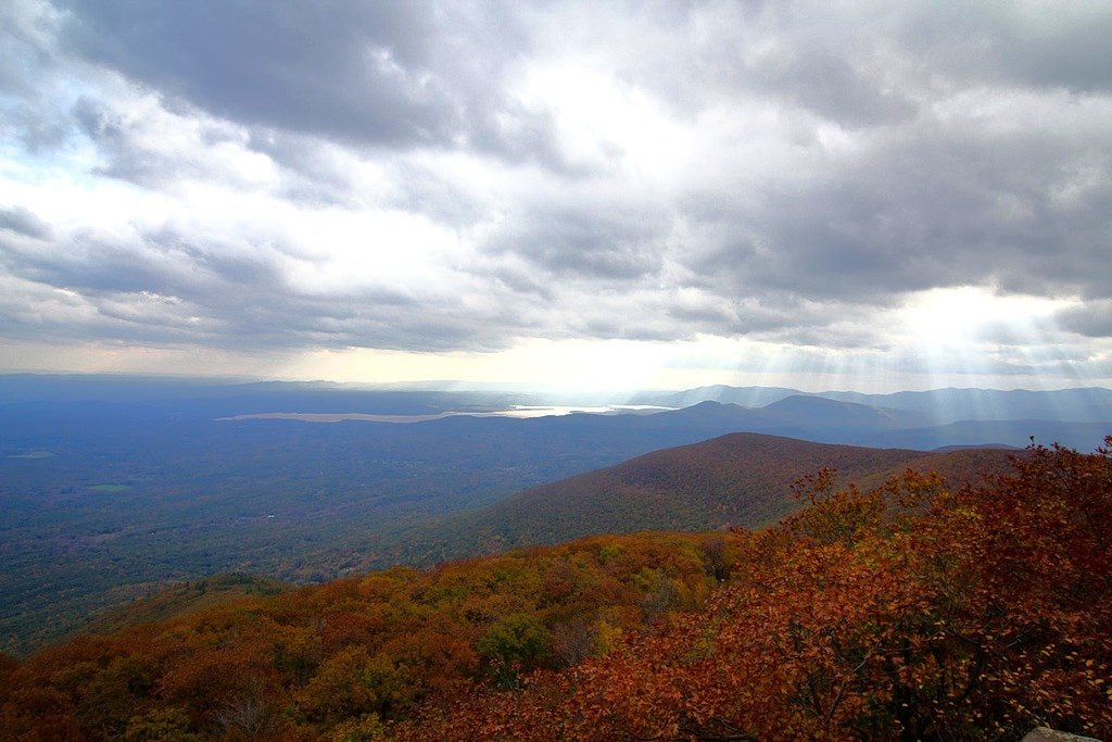 Overlook Mountain fall view