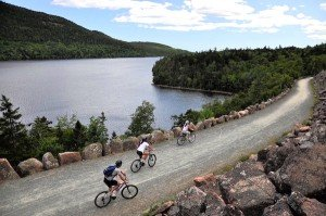 Acadia National Park carriage road biking
