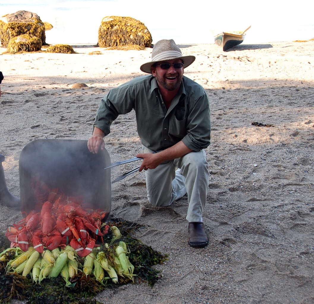 Lobster served on the beach_Courtesy Stephen Taber