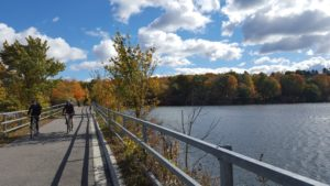 biking on the Old Putnam Trail